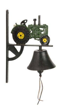 Wandglocke Trecker - Türglocke Traktor aus Gusseisen, grün