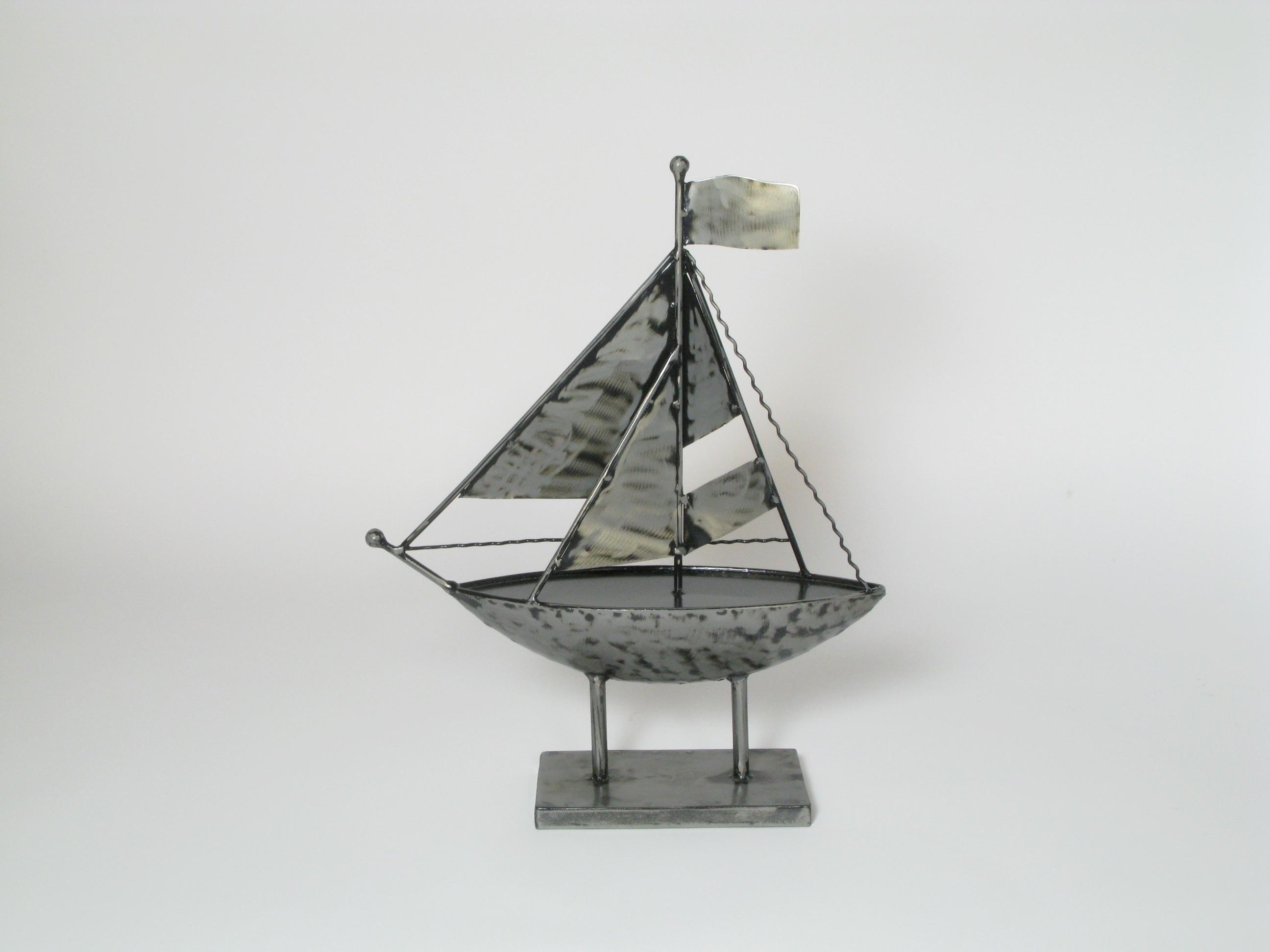 Deko Skulptur Segelboot Auf Fuss Segelschiff Schiff