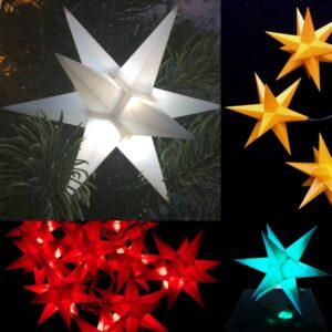 3D LED Sterne - Weihnachtssterne 11 cm Leuchtstern mit Timer - einzeln oder Sets
