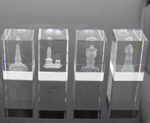 3D Laser Glas Kristall Würfel mit Motiv - Glasobjekt mit Lasertechnik