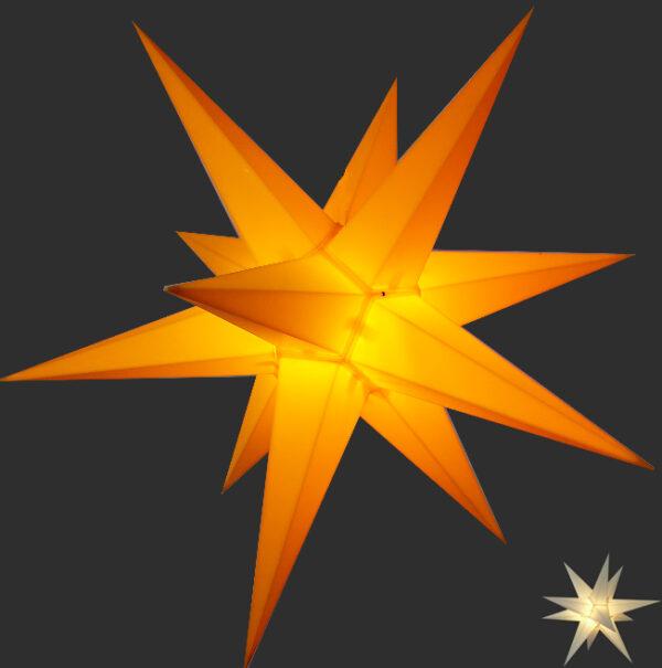 3D Stern Spritzguss - 56 cm - inkl. 7 m Außenkabel und LED Birne