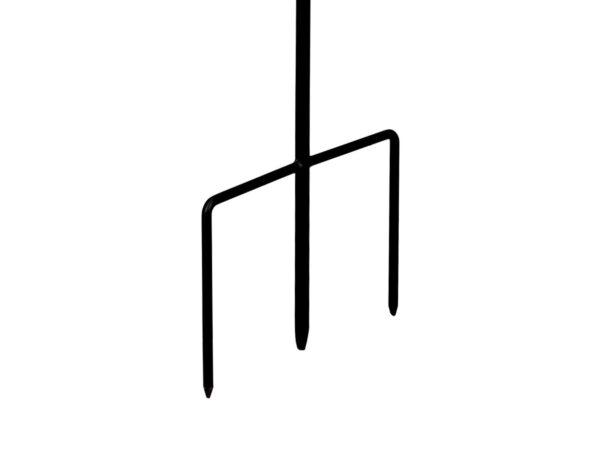Standfuß zum CIM Metall Windrad Kinetic Spinner 48 -Confetti - Abmessung: Ø48cm Gesamthöhe: 175cm - wetterfest, pulverbeschichtet, lackiert - 3-teilig, verschraubbar