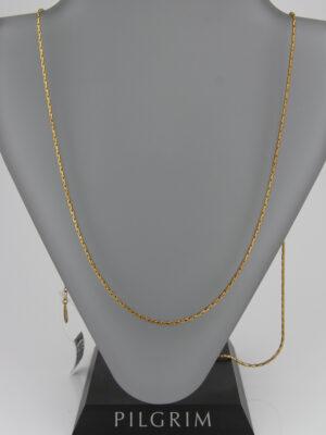 401239004Pilgrim schlichte lange Kette gold - Schlangenkette mit Verlängerungskettchen
