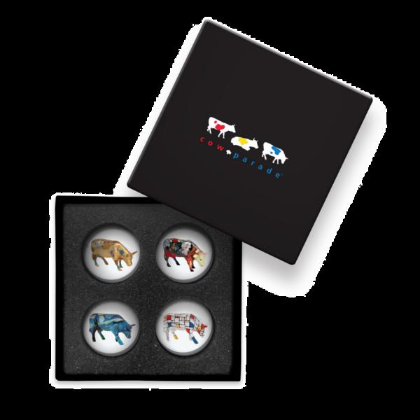 Cowparade Kuh Magnete in Geschenkbox - Art Set