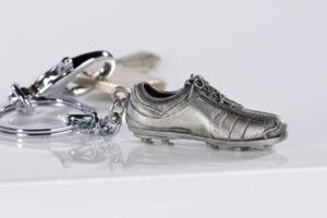 Schlüsselanhänger Fußballschuh Fussball Schlüsselring 40466