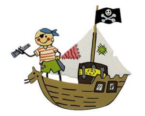 Mila Magnet Piratenschiff- Küchenmagnet Pirat aus Metall