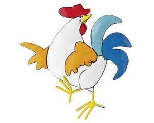 Mila Metall Magnet Hahn - Crazy Chicken