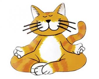 Mila Ommhh... Yoga Katze - Magnet Metall – Traumflug Online Shop ...