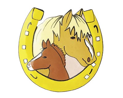 Mila Magnet Pferdeglück - Metallmagnet Hufeisen