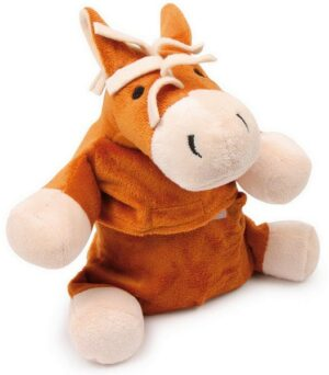 Wärmetier Pferd Plüschtier mit Wärmekissen - Stofftier mit Körnerkissen zum Herausnehmen - Weizenfüllung mit Lavendel