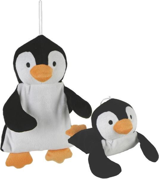 Wärmekissen Pinguin, Kuscheltier - Plüschtier - Stofftier mit Keramikkugel-Füllung zum Herausnehmen