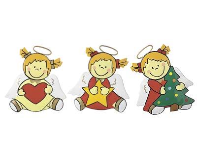 Mila Engel Magnet Sternchen mit Herz, Stern oder Weihnachtsbaum - Metall 4102