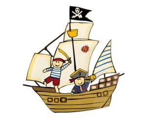 Mila Magnet Pirat - Küchenmagnet Piratenschiff Metallmagnet Kapitän Ahoi!