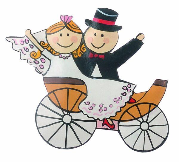 Mila Magnet Brautpaar in der Hochzeitskutsche