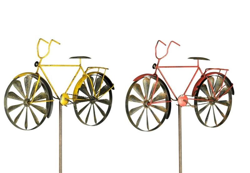Windspiel herrenrad gartendeko windrad fahrrad gartenstecker - Gartendeko fahrrad ...