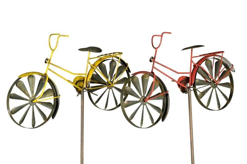 Windspiel damenrad gartendeko windrad fahrrad gartenstecker - Gartendeko fahrrad ...