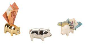 Geldschwein Glücksschwein Money Pig - Glücksbringer Geldgeschenk Geldsau