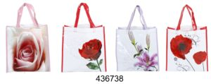 Blumen Mehrweg Einkaufstasche oder Geschenktasche - Shoppingtasche Blumenmotiv
