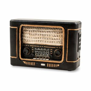 Nostalgie Spardose Retro Radio - Deko Kofferradio Transistorradio 60er Jahre Sparbüchse
