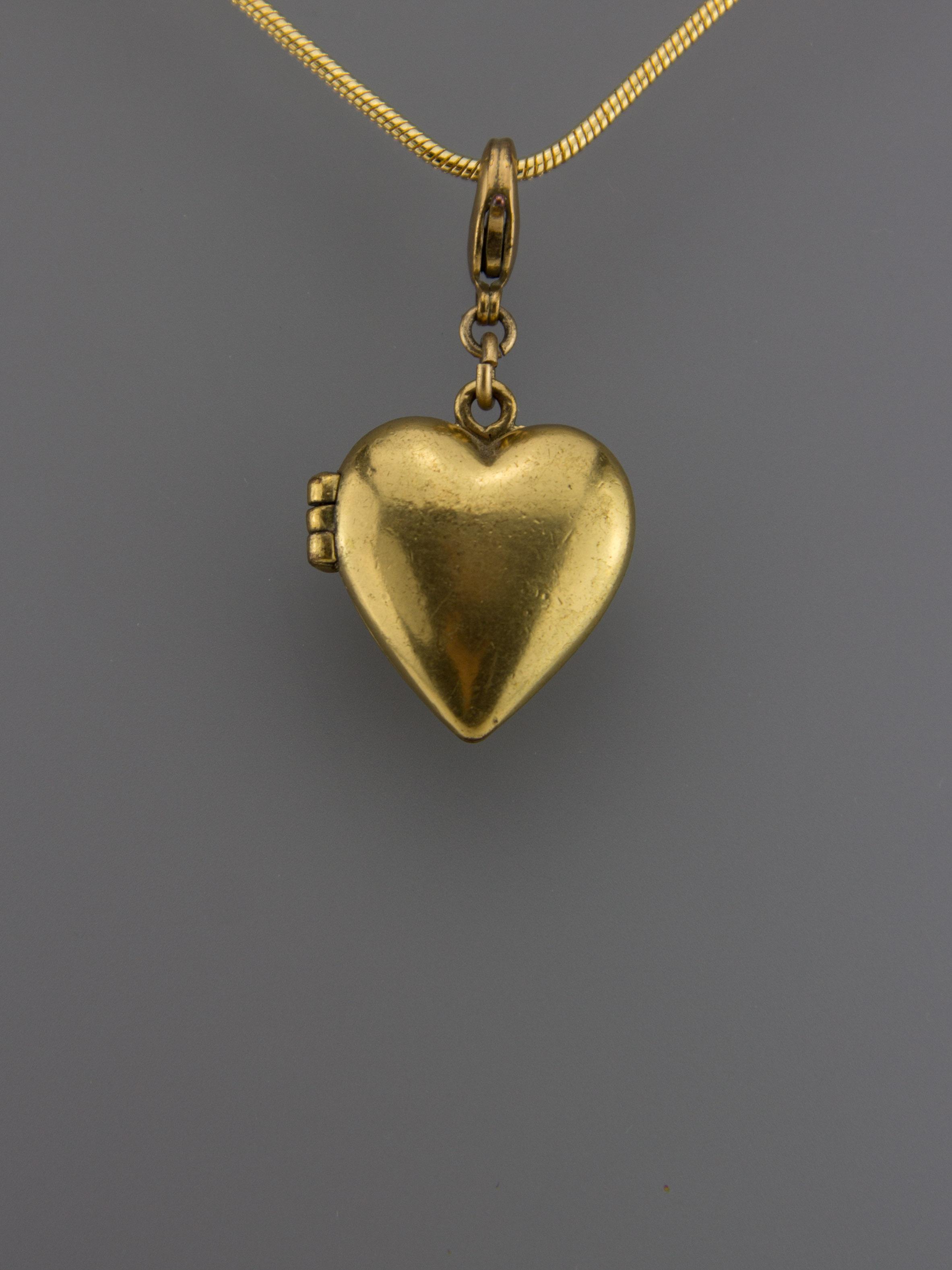 Atemberaubend Pilgrim Herz Medaillon Anhänger - gold – Traumflug Online Shop @WU_77
