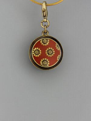 Pilgrim Blumen Amulett Anhänger - goldener Kettenanhänger Blumen Amulett Charms
