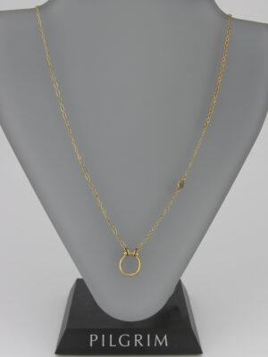 444811 Pilgrim lange Kette gold - Mustermix mit Charms Öse