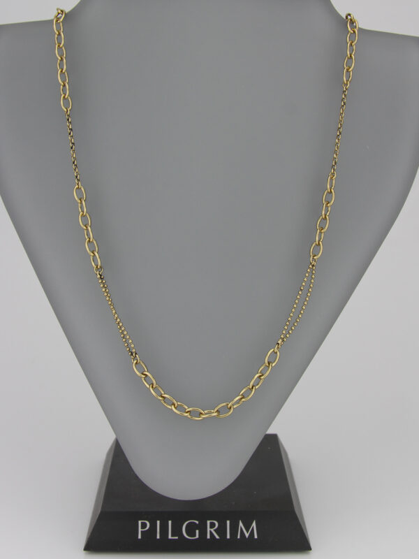 444871 Pilgrim detailreiche Kette gold