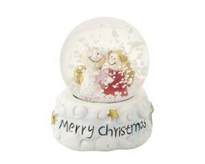 Mila Schneekugel - Traumkugel - Engelpaar Merry Christmas