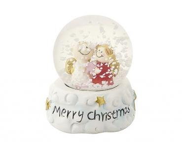 Mila Weihnachts Schneekugel Engelpaar - Traumkugel Merry Christmas