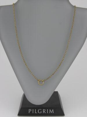 444971 Pilgrim schlichte Kette mit Ring gold - mit Verlängerungskettchen