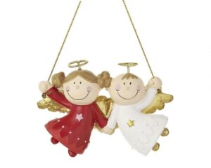 Mila Engelpaar Engel Max & Marie- Schutzengel Dekofigur zum hängen