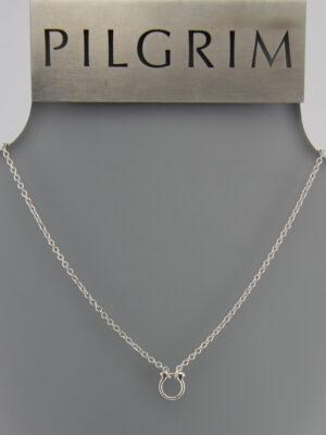 444981 Pilgrim Basic Kette große Öse silber + Verlängerungskettchen zoom