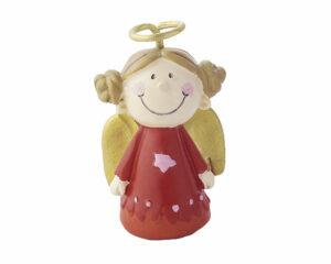 Mila Engel xxs Resin Figur Schutzengel Mädchen, rot - Marie aus: Die himmlischen Zwei