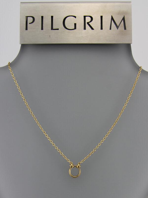 444991 Pilgrim Basic Kette große Öse gold + Verlängerungskettchen