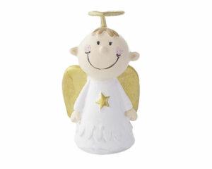 Mila Engel xxs Resin Figur Schutzengel Junge, weiß - Max aus: Die himmlischen Zwei