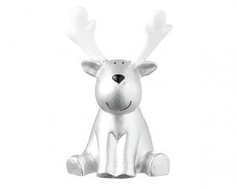 Der berühmte Elch Gustav liebt den Winter und trägt daher sein schönstes Sternenoutfit. In diesem modischen Look ist die handbemalte Mila Design Figur eine stimmungsvolle Deko für dein Zuhause. Material: Resin 6 cm