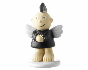 Mila Engel Punky Angel xxs Figur - Resin Figur Schutzengel Junge mit Irokesenschnitt
