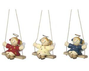 Mila Engel Deko Hängefigur - Sterntaler auf der Schaukel - Schutzengel hängend Schutzengelvon Mila, eine stimmunsvolle Deko für zu Hause Material: Resin Größe ca. 6 cm toller Anhänger für den Weihnachtsbaum oder zum Schmücken von Weihnachtsgirlanden und Kränzen, mit viel Liebe zum Detail handbemalt Geschenke mit Smile Garantie MILA Design Figuren strahlen Freude aus.