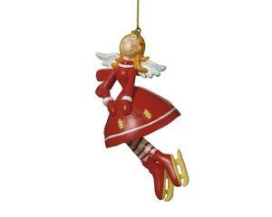 Engel Hänger Angelina - Schutzengel mit Schlittschuhen oder Kleid und Handtasche