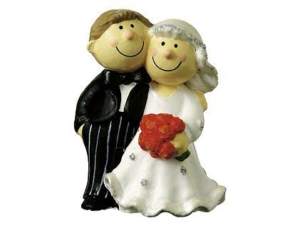 Mila Brautpaar Hochzeitspaar - Dekofigur Hochzeit Tortenfigur