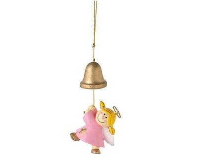 Mila Deko Hängefigur Engel - Sterntaler an der Glocke hängend