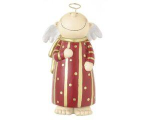 Mila Deko Figur Engel Himmelsbote, rot - Schutzengel stehend 17 cm