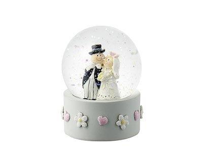 Mila Hochzeit Schneekugel - Just Married Schüttelkugel - Hochzeitspaar Traumkugel