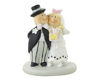 Mila mini Brautpaar Hochzeitspaar - Dekofigur Hochzeit Tortenfigur