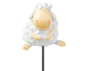 Mila Schaf Blumenstecker Wolle und Bolle - Gartenstecker Lamm