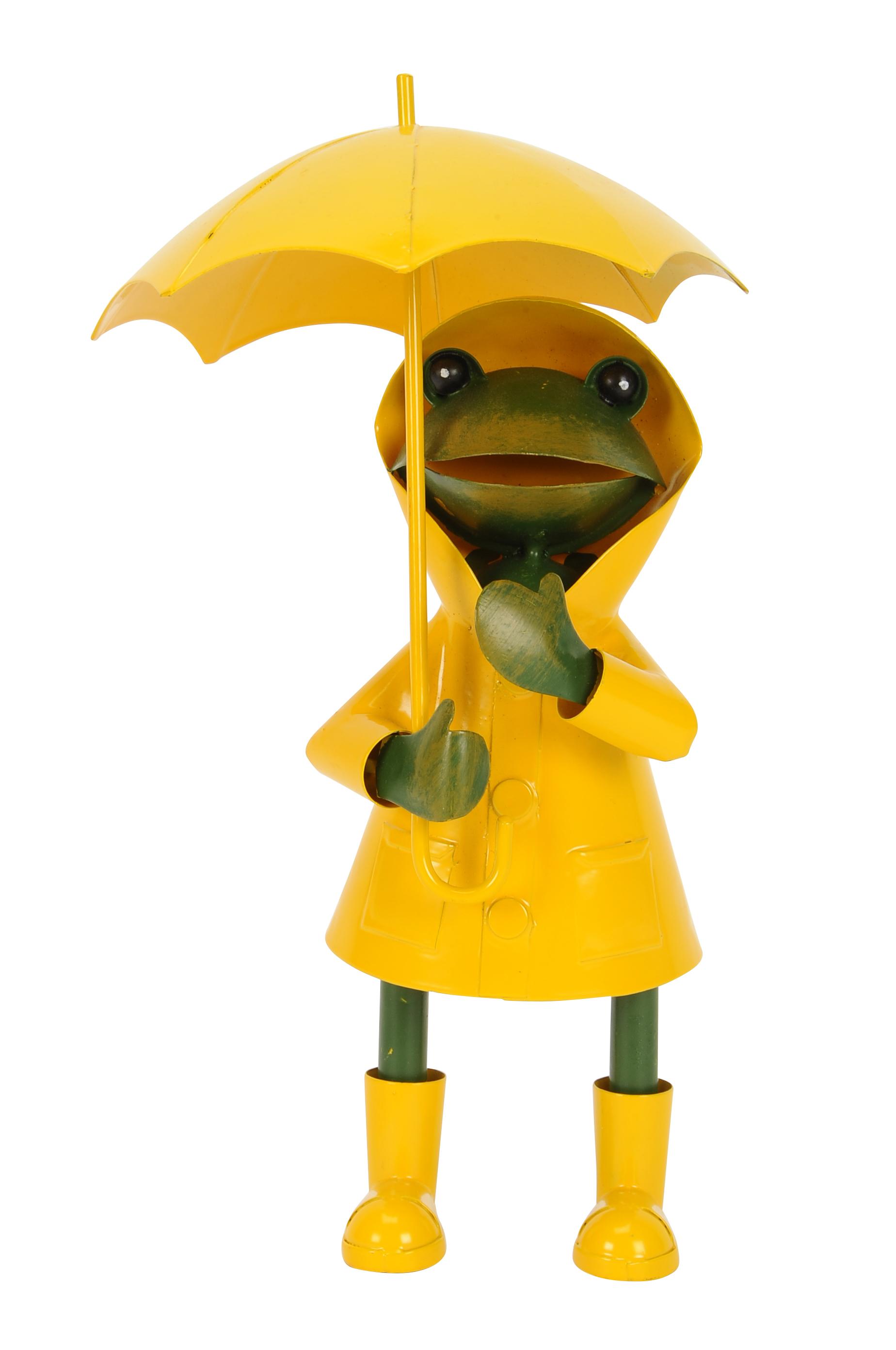 Frosch Regenmantel gelb Frosch Gießkanne Frosch Kanne Zaunhocker Frosch gelb