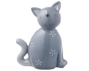 Mila Kater Carlo Dekofigur - Katze Gartenfigur aus Resin