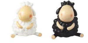 Mila Schaf Wolle und Bolle - Dekofigur aus Resin - wetterfest