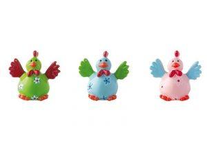 Mila xxs Figur Huhn - Crazy chicken - verrückte Hühner aus Resin