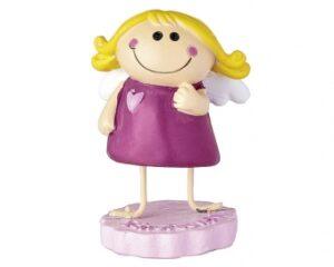 Mila Schutzengel Figur - Engel Mädchen in Geschenkbox